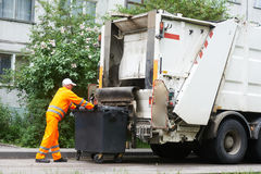 Serviços de recicl urbanos do desperdício e do lixo Imagem de Stock Royalty Free