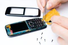 Serviços de reparo do telefone móvel Foto de Stock Royalty Free