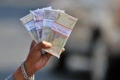 Serviços de troca do dinheiro Fotografia de Stock