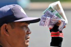 Serviços de troca do dinheiro Imagens de Stock