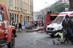 Serviços de urgências da cidade imagens de stock royalty free
