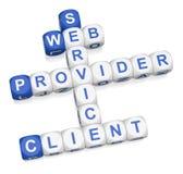 Serviços de Web ilustração stock