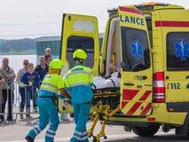 Serviços médicos holandeses na ação Fotografia de Stock Royalty Free