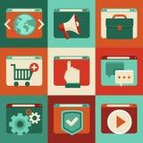 Serviços onlines do vetor - conceitos no estilo liso Imagens de Stock