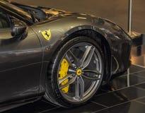 Servië; Belgrado; 2 april, 2017; Dichte omhooggaand van Ferrari; 53 Royalty-vrije Stock Afbeeldingen