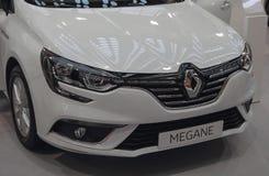 Servië; Belgrado; 2 april, 2017; Dichte omhooggaand van Renault Megane Royalty-vrije Stock Foto's