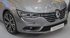 Servië; Belgrado; 2 april, 2017; Dichte omhooggaand van Renault Talisma Royalty-vrije Stock Foto