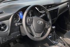 Servië; Belgrado; 2 april, 2017; Dichte omhooggaand van Toyota Corolla royalty-vrije stock foto's