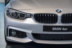 Servië; Belgrado; 2 april, 2017; Masker van BMW 4 Reeksen; de drieënvijftigste Royalty-vrije Stock Fotografie