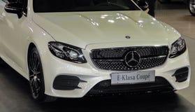 Servië; Belgrado; 29 maart, 2017; De Klassencoupé Fr van Mercedes-Benz E Royalty-vrije Stock Afbeelding