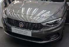 Servië; Belgrado; 24 maart, 2018; Fiat Tipo-voorzijde; 54ste Inte Royalty-vrije Stock Afbeeldingen