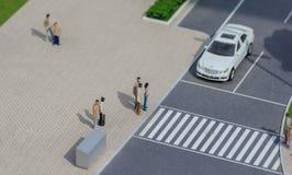 Servië; Belgrado; 24 maart, 2018; Het miniatuurmodel van Mercedes-is Stock Afbeeldingen