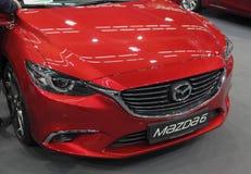 Servië; Belgrado; 24 maart, 2018; Mazda 6 voorzijde; de 54ste Intern Stock Afbeelding