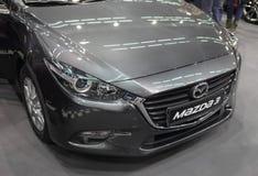 Servië; Belgrado; 24 maart, 2018; Mazda 3 voorzijde; de 54ste Intern Stock Foto