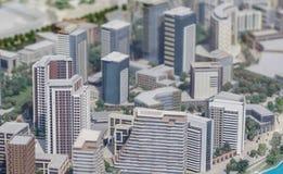 Servië; Belgrado; 24 maart, 2018; Miniatuurmodel van gebouwen; Royalty-vrije Stock Afbeelding