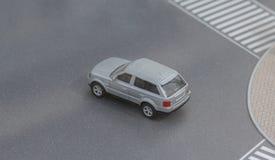 Servië; Belgrado; 24 maart, 2018; Miniatuurmodel van Range Rover Stock Afbeeldingen