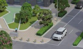 Servië; Belgrado; 24 maart, 2018; Miniatuurmodel van Range Rover Stock Foto's