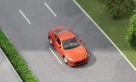 Servië; Belgrado; 24 maart, 2018; Miniatuurmodel van Toyota-auto Royalty-vrije Stock Afbeelding
