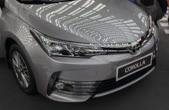 Servië; Belgrado; 24 maart, 2018; Toyota Corolla voor, linkersid stock afbeeldingen