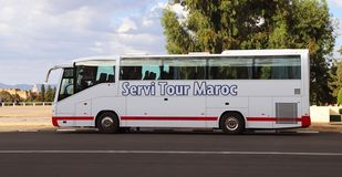 Tour Bus In Morocco stock image