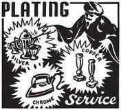 Service à l'assiette illustration libre de droits
