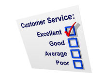 Service à la clientèle avec excellent fait tic tac Image libre de droits