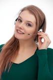 Service à la clientèle avec le sourire Photo stock