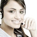 Service à la clientèle femelle image stock