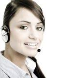 Service à la clientèle femelle photos libres de droits