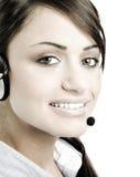 Service à la clientèle femelle photo stock