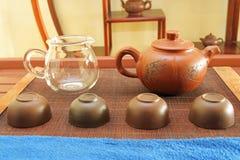 Service à thé chinois Images libres de droits