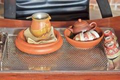 Service à thé chinois photo stock