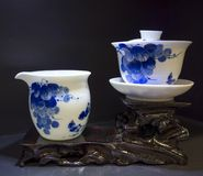 Service à thé de classique chinois Photographie stock libre de droits