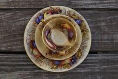 Service à thé de style de vintage images stock