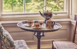 Service à thé du siècle 18 Photo stock