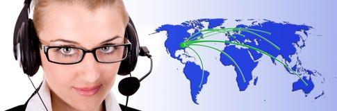 service över hela världen Fotografering för Bildbyråer