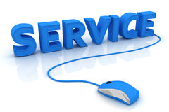 Service. This is a 3D rendered picture Royalty Free Stock Image
