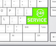 SERVICE 24 hours concept Royalty Free Stock Photography