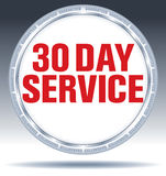 Service 30 day service round button Royalty Free Stock Photo