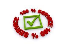 100% Service Lizenzfreie Stockbilder