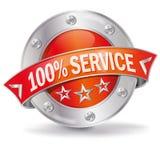100% Service Stockbild