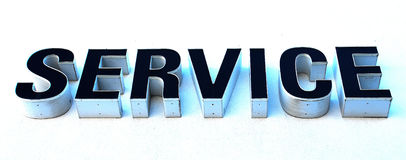 Service. Signage for Automotive Dealership Royalty Free Stock Image