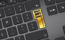 Service 5 der Qualitäts 100% Sterngoldtaste Stockfoto