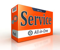 Service advertising orange pack concept Royalty Free Stock Image