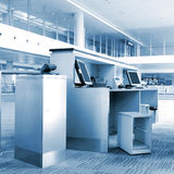 The service of airport terminals Stock Photography