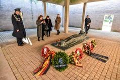 Service allemand anglo de jour de souvenir photographie stock libre de droits