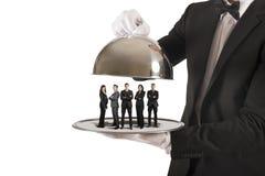 Service aux entreprises et équipe de première classe photos stock