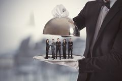 Service aux entreprises et équipe de première classe Photo stock