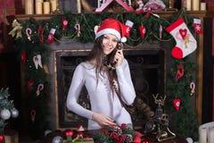 Service av Santa Claus royaltyfri bild