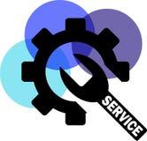 Service avec la vitesse illustration libre de droits